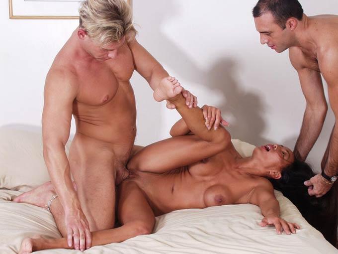 Asian mom threesome slutload